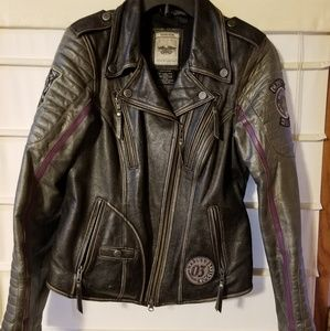 Womens Harley Davidson Leather Coat, Medium